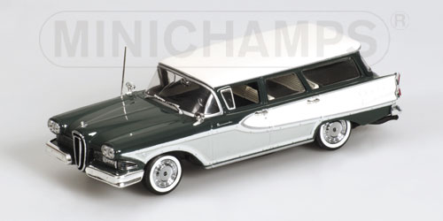 Minichamps: 1958 Edsel Bermuda Station Wagon - Green (400 082011) in 1:43 scale