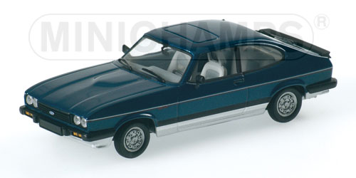 minichamps 1984 ford capri iii 2 8 super injection blue silver 400 082226 in 1 43 scale. Black Bedroom Furniture Sets. Home Design Ideas