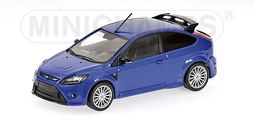 Minichamps: 2009 Ford Focus RS - Blue (400 088101) im 1:43 maßstab