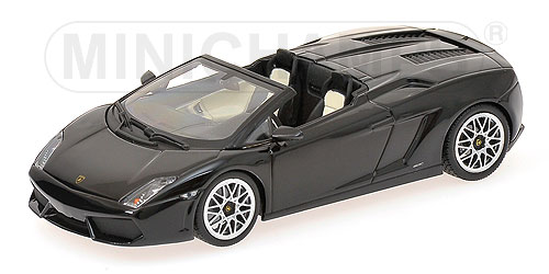 Minichamps: 2009 Lamborghini Gallardo LP 560-4 Spyder - Black (400 103830) in 1:43 scale