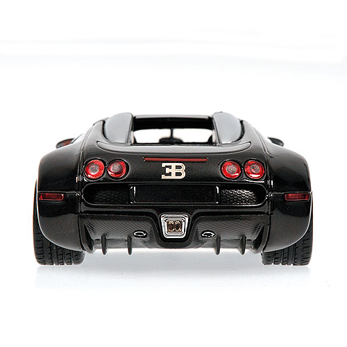 Minichamps: 2009 Bugatti Veyron - Black Metallic / Grey Metallic (400 110820) im 1:43 maßstab