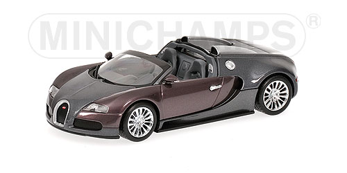Minichamps: 2009 Bugatti Veyron Grand Sport - Grey / Grey (400 110830) in 1:43 scale