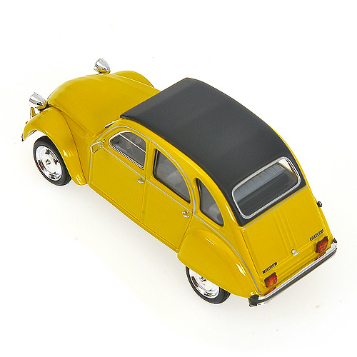 Minichamps: 1980 Citroen 2CV - Yellow  w/ Closed Roof (400 111502) im 1:43 maßstab
