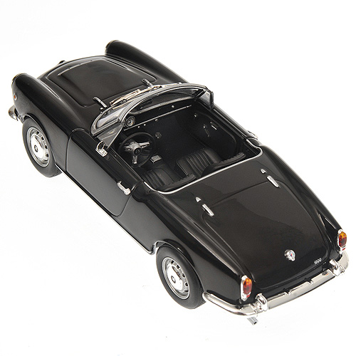 Minichamps: 1962 Alfa Romeo Giulia Spider - Black (400 120730) in 1:43 scale