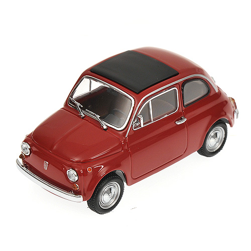 Minichamps: 1965 Fiat 500 - Red (400 121602) в 1:43 масштабе