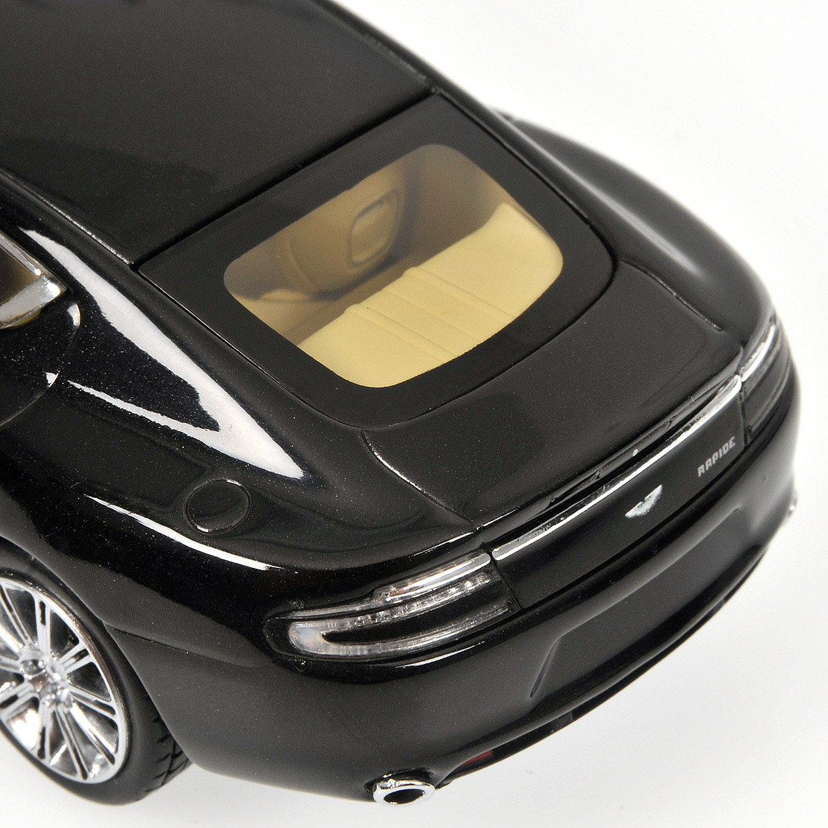 Minichamps: 2010 Aston Martin Rapide - Black Metallic (400 137900) in 1:43 scale