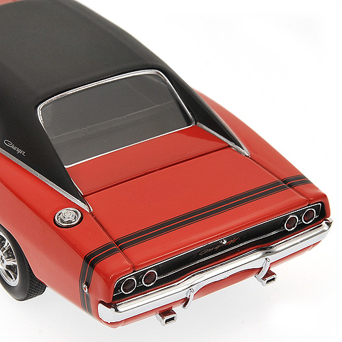 Minichamps: 1968 Dodge Charger - Bright Red (400 144721) in 1:43 scale