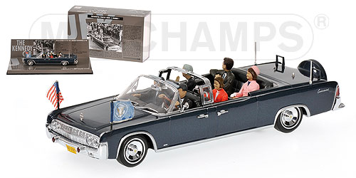 Minichamps 1963 Lincoln Continental X 100 J F K