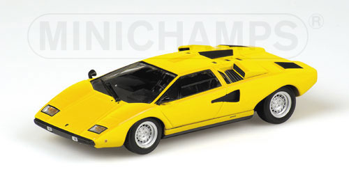 minichamps 1974 lamborghini countach lp400 yellow 430 103101 in 1 43 scale mdiecast. Black Bedroom Furniture Sets. Home Design Ideas