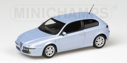 Minichamps: 2001 Alfa Romeo 147 - Blue Metallic (430 120001) в 1:43 масштабе