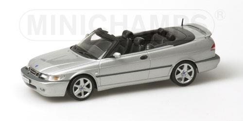 minichamps 2001 saab 9 3 aero cabriolet silver 430 170831 in 1 43 scale mdiecast. Black Bedroom Furniture Sets. Home Design Ideas