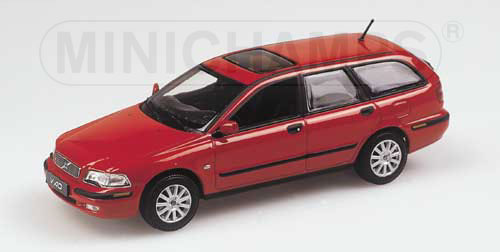 minichamps 2000 volvo v40 break red 430 171110 in 1 43 scale mdiecast. Black Bedroom Furniture Sets. Home Design Ideas