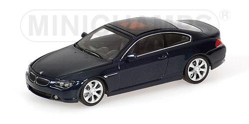 minichamps 2006 bmw 6 series coupe dark blue metallic 431 026021 in 1 43 scale mdiecast. Black Bedroom Furniture Sets. Home Design Ideas