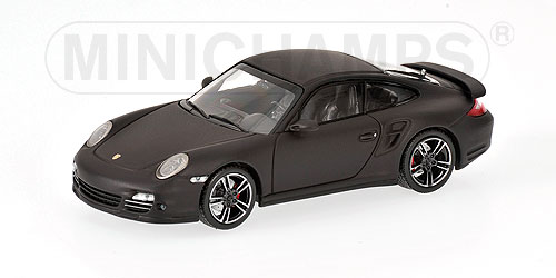 Minichamps: 2010 Porsche 911 (997 II) Turbo - Matt Black (436 069000) в 1:43 масштабе