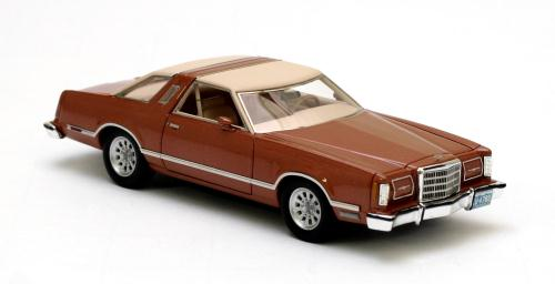 neo scale models  ford thunderbird copper metallic    scale mdiecast
