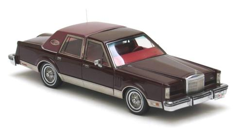 NEO Scale Models: 1980 Lincoln Mark 6 Sedan - Red Metallic (43541) in 1:43  scale