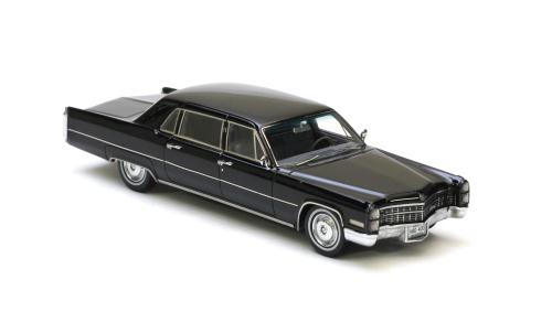 NEO Scale Models: 1966 Cadillac Fleetwood Limousine - Black (44400) in 1:43 scale - mDiecast