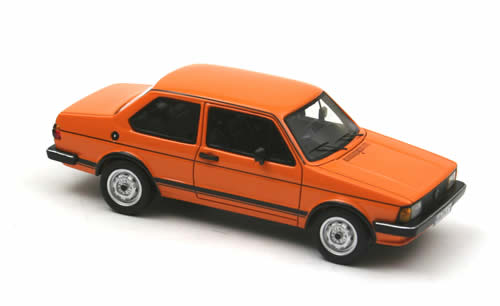 neo scale models  volkswagen jetta   door orange    scale mdiecast
