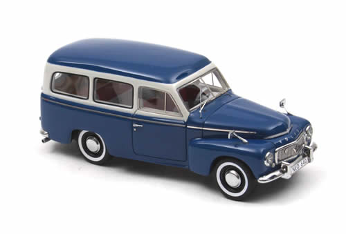 NEO Scale Models: 1956 Volvo PV 445 Duett - Blue / Grey (43640) in 1:43 scale - mDiecast