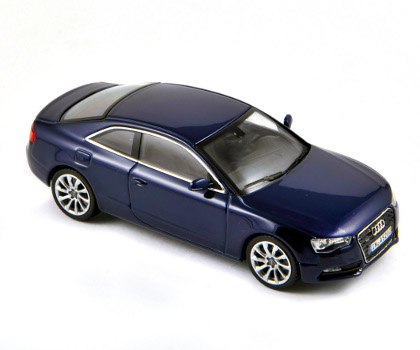Norev: 2012 Audi A5 Coupe - Scuba Blue Metallic (830105) в 1:43 масштабе