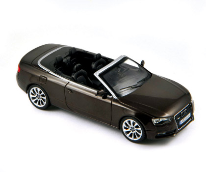 Norev: 2012 Audi A5 Cabriolet - Teakbrown Metallic (830110) in 1:43 scale