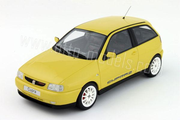 otto 1997 seat ibiza cupra yellow ot702 in 1 18 scale mdiecast. Black Bedroom Furniture Sets. Home Design Ideas