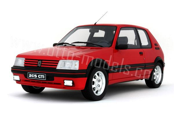 otto 1991 peugeot 205 gti 1 9l red ot039 in 1 12 scale mdiecast. Black Bedroom Furniture Sets. Home Design Ideas