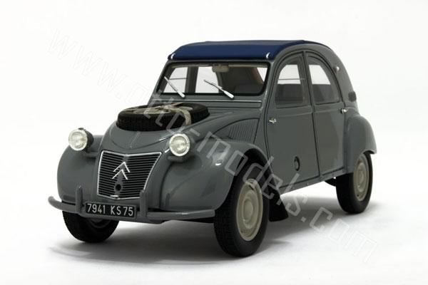otto 1958 citroen 2cv 4x4 sahara grey w blue roof ot564 in 1 18 scale mdiecast. Black Bedroom Furniture Sets. Home Design Ideas