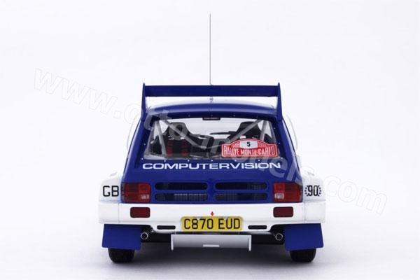 OttO: 1986 MG Metro 6R4 Rallye Monte Carlo #5 (193) in 1:18 scale