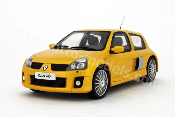 otto 2003 renault clio v6 phase 2 yellow 197 in 1 18 scale mdiecast. Black Bedroom Furniture Sets. Home Design Ideas