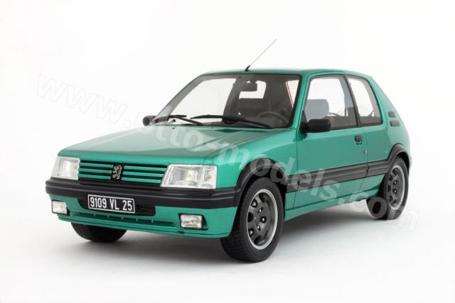 otto 1991 peugeot 205 gti griffe green 205 in 1 18 scale mdiecast. Black Bedroom Furniture Sets. Home Design Ideas