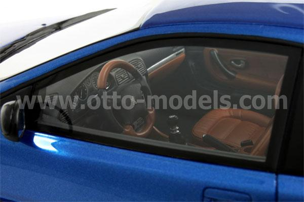 OttO: 2003 Peugeot 406 Coupe - Blue (207) in 1:18 scale