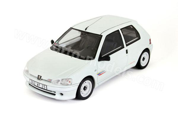 otto 1996 peugeot 106 rallye phase 2 white ot574 in 1 18 scale mdiecast. Black Bedroom Furniture Sets. Home Design Ideas