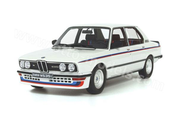OttO: 1980 BMW M 535i (E12) - White (266) in 1:18 scale - mDiecast