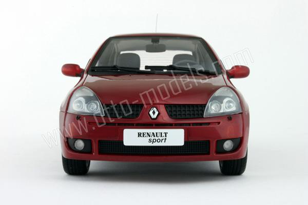 otto 2001 renault clio 2 rs phase 2 red ot026 in 1 18 scale mdiecast. Black Bedroom Furniture Sets. Home Design Ideas