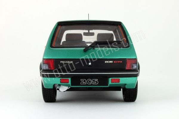otto 1991 peugeot 205 gti 1 9l griffe green ot029 in 1 18 scale mdiecast. Black Bedroom Furniture Sets. Home Design Ideas