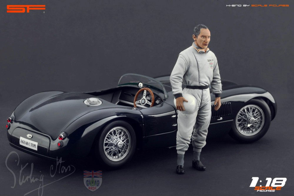 Scale Figures: Stirling Moss Figure (SF118027) in 1:18 scale