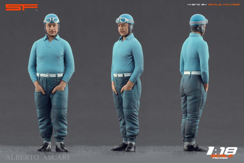 Scale Figures: Alberto Ascari Figure in 1:18 scale - mDiecast