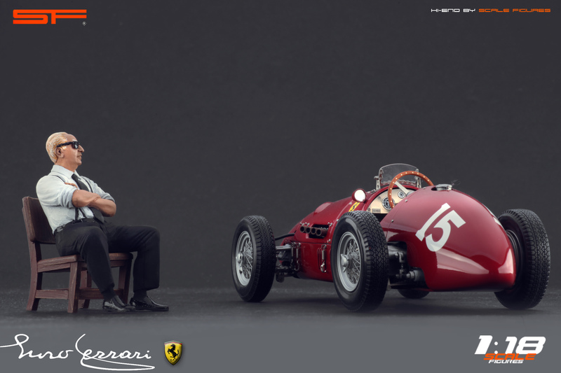 Scale Figures: Enzo Ferrari Sitting Figure in 1:18 scale