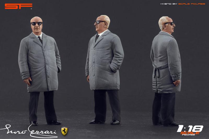 Scale Figures Enzo Ferrari Standing Figure In 1 18 Scale