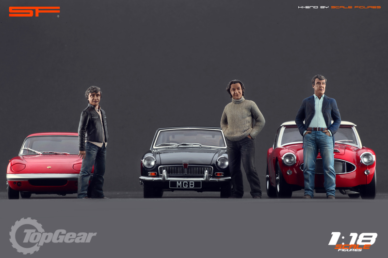 Scale Figures: Top Gear Trio Figures in 1:18 scale