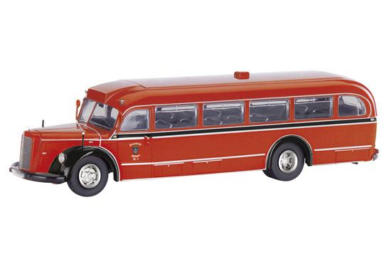 Schuco Mercedes Benz O 6600 Bus Feuerwehr Solingen