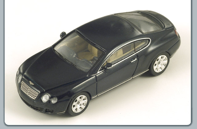 Spark: 2003 Bentley Continental GT - Green (87S060) in 1:87 scale