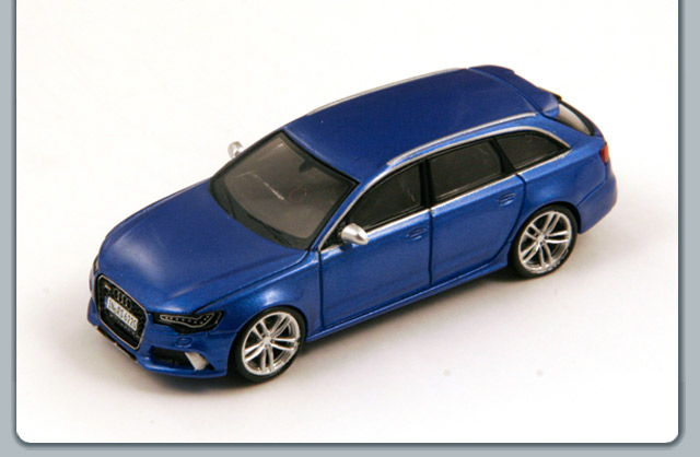 Spark: Audi RS6 Avant - Blue (87S133) in 1:87 scale