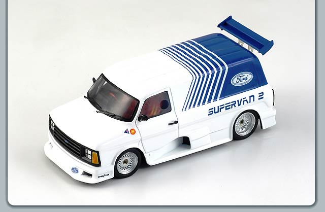 Spark: 1984 Ford Transit Supervan 2 - White/Blue (S0282) in 1:43 scale