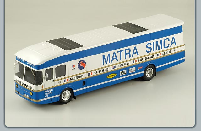 Spark: 1970 Transporter Matra Simca Team (S0291) in 1:43 scale