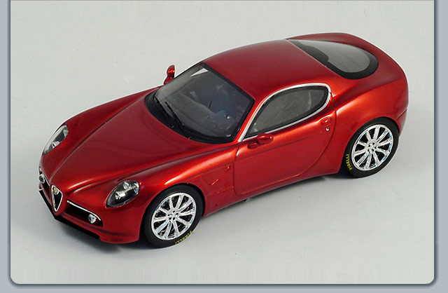 Spark: 2004 Alfa Romeo 8 C Competition Coupe - Red Metallic (S0396) in 1:43 scale