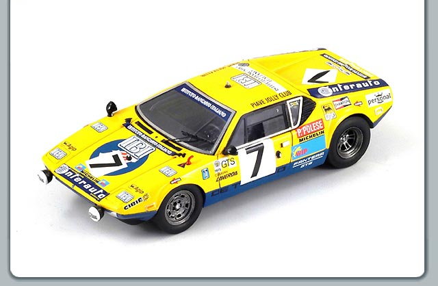 Spark: 1975 De Tomaso Pantera #7 Le Mans - Polese-Willers (S0526) in 1:43 scale