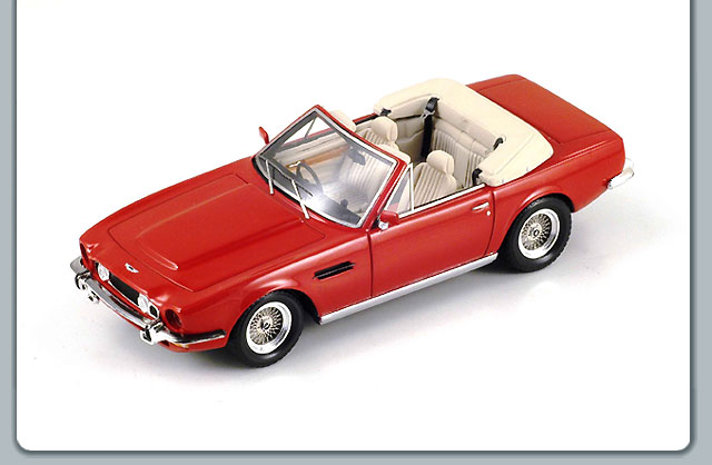 Spark: 1978 Aston Martin Volante - Red (S0577) in 1:43 scale