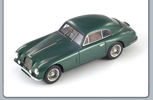 Spark: 1950 Aston Martin DB2 Coupe - Green (S0581) in 1:43 scale
